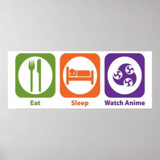 Eat Sleep Watch Anime Poster