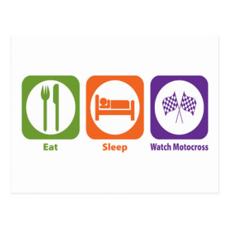 Eat Sleep Watch Motocross Postcard