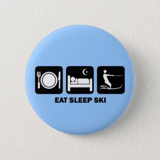 eat sleep water ski button