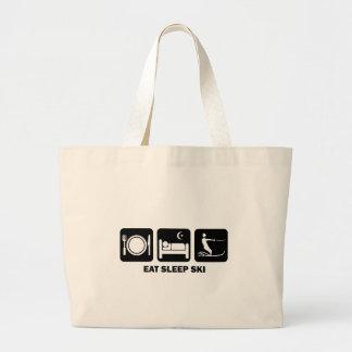 eat sleep water ski jumbo tote bag