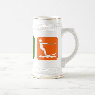Eat Sleep Water Skiing Beer Stein