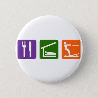 Eat Sleep Water Skiing Button