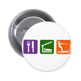 Eat Sleep Water Skiing Button