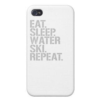 Eat Sleep Waterski Repeat iPhone 4/4S Cover