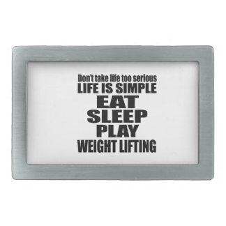EAT SLEEP WEIGHT LIFTING BELT BUCKLE