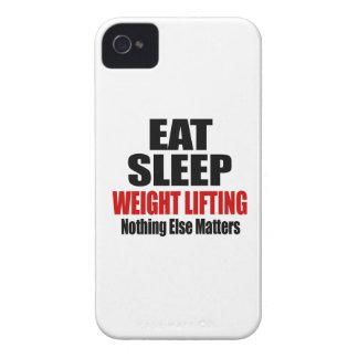 EAT SLEEP WEIGHT LIFTING iPhone 4 CASE