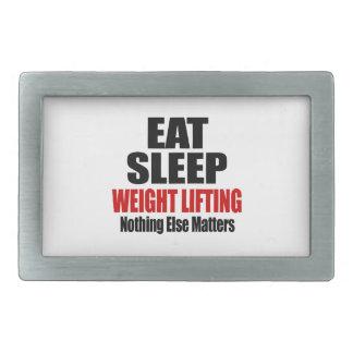EAT SLEEP WEIGHT LIFTING RECTANGULAR BELT BUCKLE
