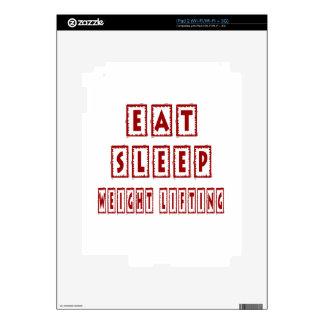 Eat Sleep Weight Lifting Skins For iPad 2