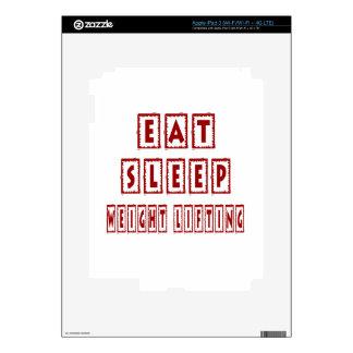 Eat Sleep Weight Lifting iPad 3 Decals