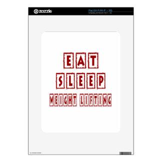 Eat Sleep Weight Lifting iPad Skins