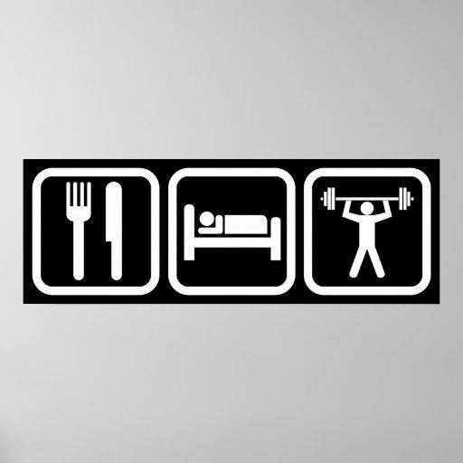Eat Sleep Weightlifting Poster