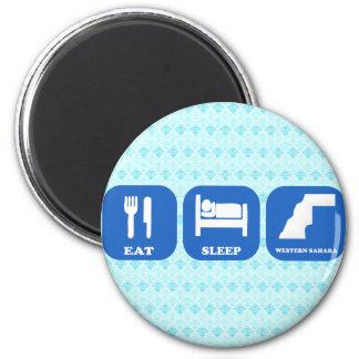 Eat Sleep Western Sahara Refrigerator Magnet