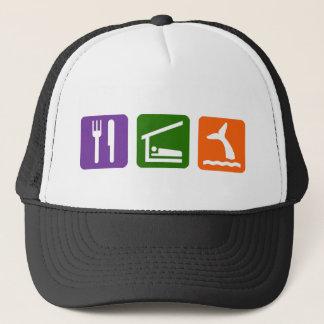 Eat Sleep Whale Watching Trucker Hat