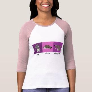 Eat Sleep Whippet Ladies Raglan T-Shirt