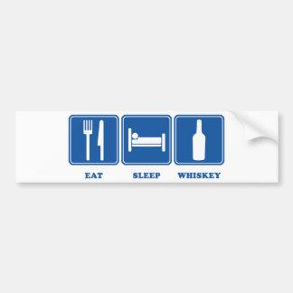 Eat Sleep Whiskey Bumper Sticker