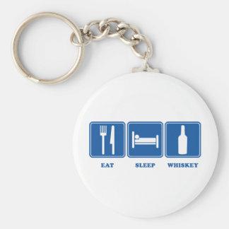 Eat Sleep Whiskey Keychain