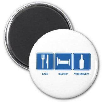 Eat Sleep Whiskey Magnet