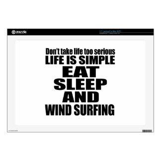 "EAT SLEEP WIND SURFING 17"" LAPTOP DECAL"