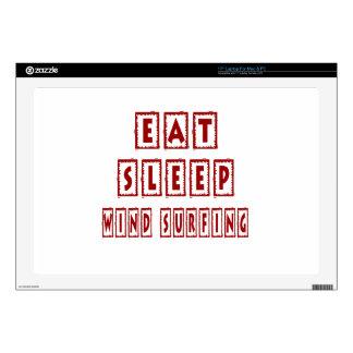"Eat Sleep Wind Surfing 17"" Laptop Skin"