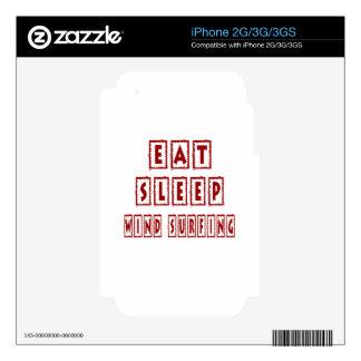 Eat Sleep Wind Surfing iPhone 3 Skin