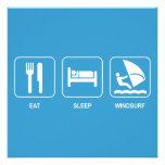 Eat Sleep Windsurf Invitation
