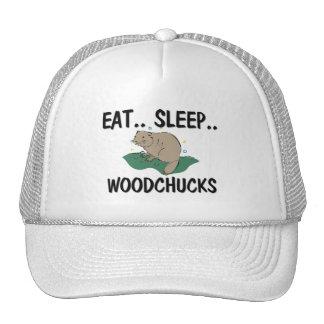 Eat Sleep WOODCHUCKS Trucker Hat