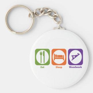 Eat Sleep Woodwork Keychain