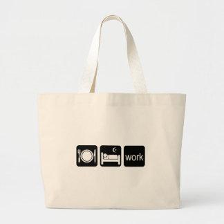 Eat sleep work jumbo tote bag