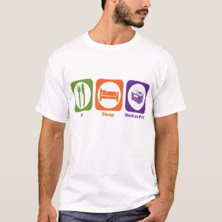 Eat Sleep Work on HVAC T-Shirt