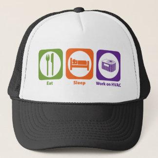 Eat Sleep Work on HVAC Trucker Hat