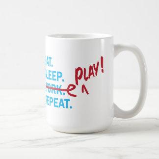 Eat Sleep Work Retirement Gift mug