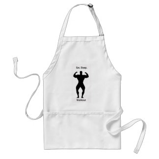 Eat. sleep.workout. adult apron