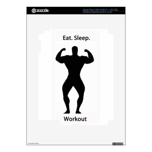 Eat. sleep.workout. iPad 3 skin