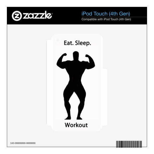 Eat. sleep.workout. skin for iPod touch 4G