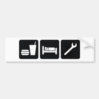 Eat Sleep Wrench Bumper Sticker