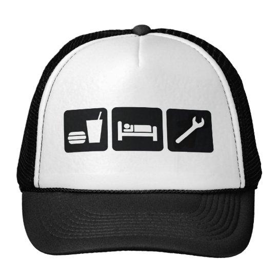 Eat Sleep Wrench Trucker Hat