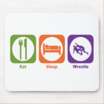 Eat Sleep Wrestle Mouse Pads