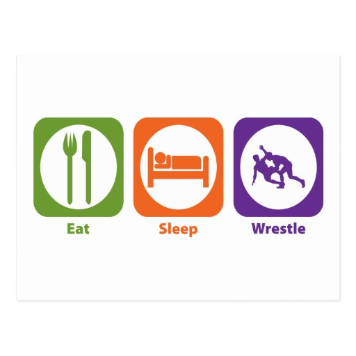 Eat Sleep Wrestle Postcard
