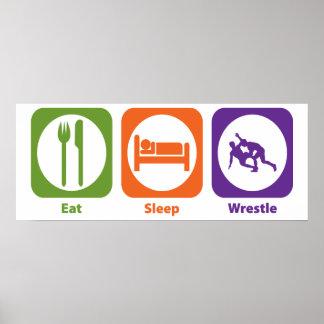 Eat Sleep Wrestle Poster