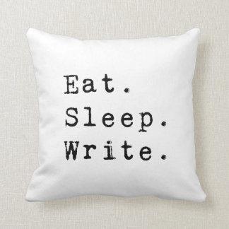 Eat Sleep Write Throw Pillows