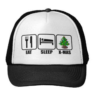 Eat, Sleep, X-Mas Trucker Hat