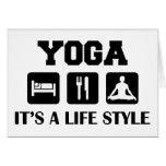 Eat Sleep Yoga Card