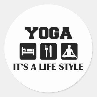 Eat Sleep Yoga Classic Round Sticker
