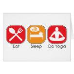 Eat Sleep Yoga Greeting Card