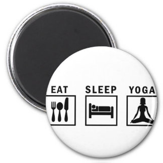 eat sleep yoga magnet