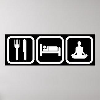Eat Sleep Yoga Poster