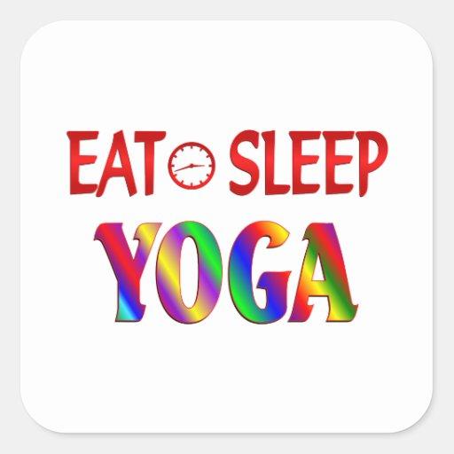 Eat Sleep Yoga Square Sticker