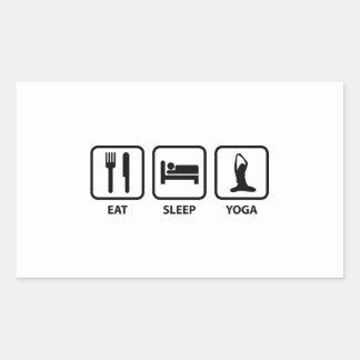 Eat Sleep Yoga Rectangular Stickers