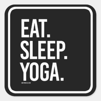 Eat Sleep Yoga -   Yoga Fitness -.png Square Sticker