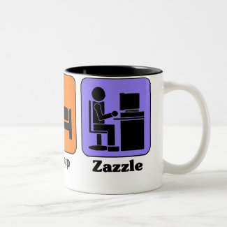 Eat Sleep Zazzle mug mug